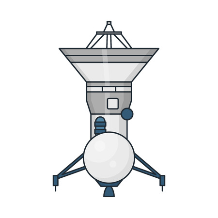 habitable: Vector illustration of a space station on white background. Space topic. Illustration
