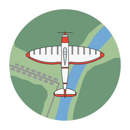 Vector illustration of an airplane model on white background. Aircraft topic.