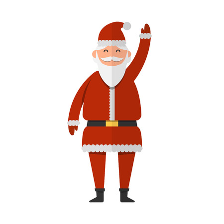 Santa Claus waving with his hands vector illustration. Christmas and New Year celebration topic. Illustration