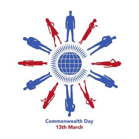 La ilustración se refiere al Día de la Commonwealth el 13 de marzo Foto de archivo - 87779588