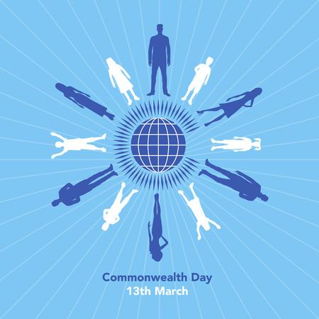 La ilustración se refiere al Día de la Commonwealth el 13 de marzo Foto de archivo - 87779591