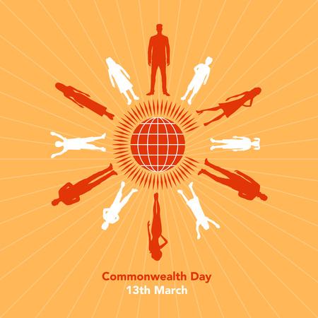 La ilustración se refiere al Día de la Commonwealth el 13 de marzo Foto de archivo - 87779593