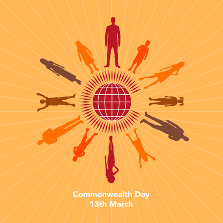 The illustration concerns the Commonwealth Day on March 13th