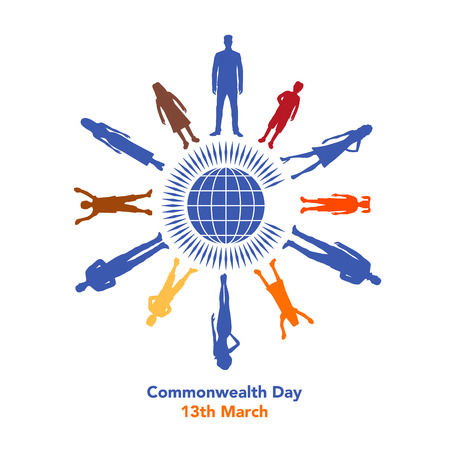 concerns: The illustration concerns the Commonwealth Day on March 13th