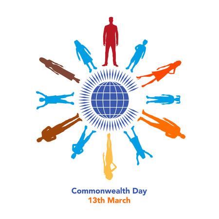 La ilustración se refiere al Día de la Commonwealth el 13 de marzo Foto de archivo - 87779679