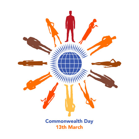 The illustration of Commonwealth Day on March 13th Illustration