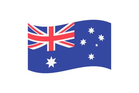 Vector illustration of the national flag of Australia on white background. Ilustrace