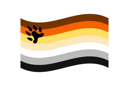 Vector illustration of the Bear Brotherhood flag on white background. LGBT symbols topic.