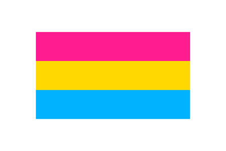Vector illustration of the Pansexual pride flag on white background Illustration