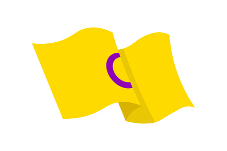 Vector illustration of the Intersex flag on white background. LGBT symbols topic.