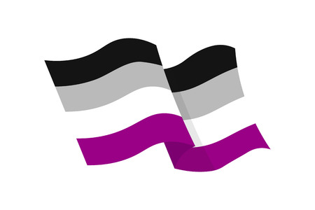 Vector illustration of the asexual flag on white background