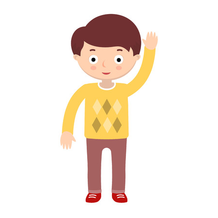 illustration of a child on white background. Kids and childhood topic. Illustration