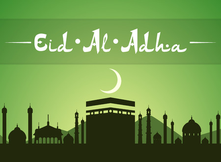 Eid Al Adhra holiday vector icon. Islamic religious holidays.