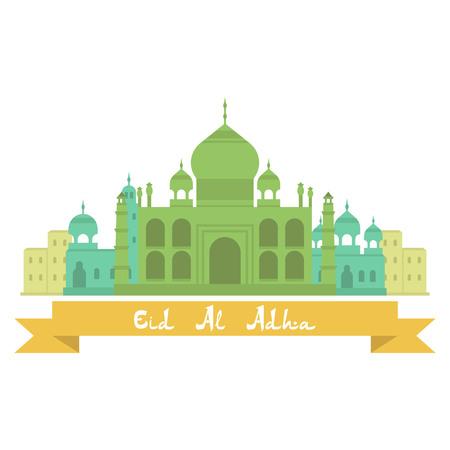 Eid Al Adhra holiday vector icon. Islamic religious holidays.