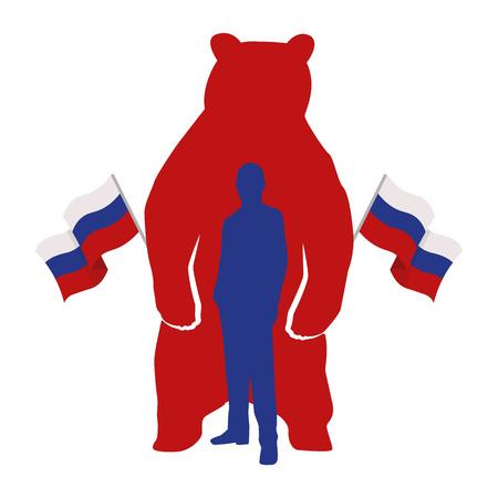 World leaders theme Illustration