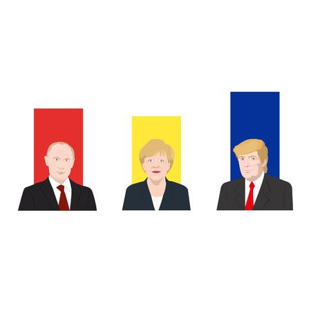 World leaders theme Stock Photo