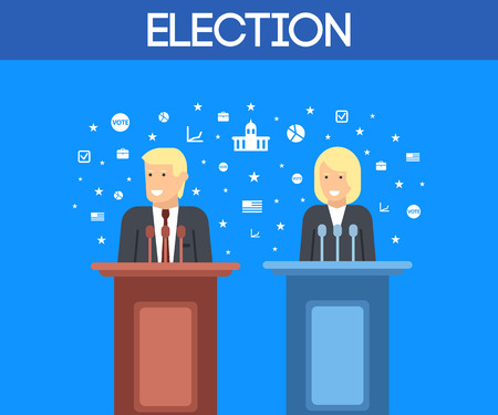 Vector illustration of the election campaign in the USA
