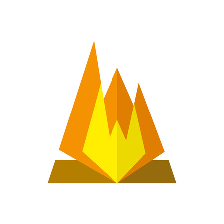 Campfire Icon on isolated background. Atributes for summer sports activities.