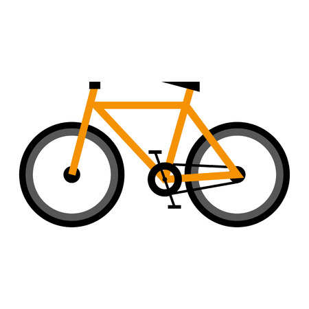 Bike. Icon on isolated background. Atributes for summer sports activities Çizim
