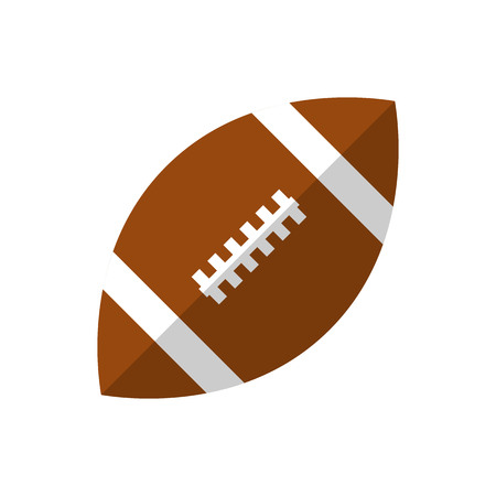 Rugby ball represent as Attributes for summer sports activities