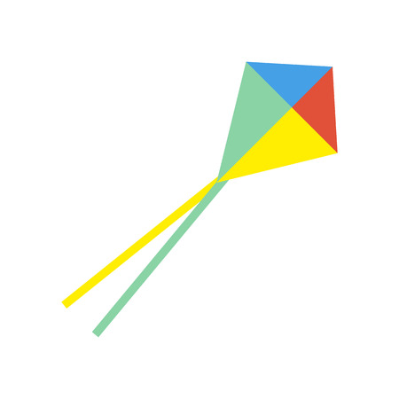 Kite represent as Attributes for summer sports activities Çizim