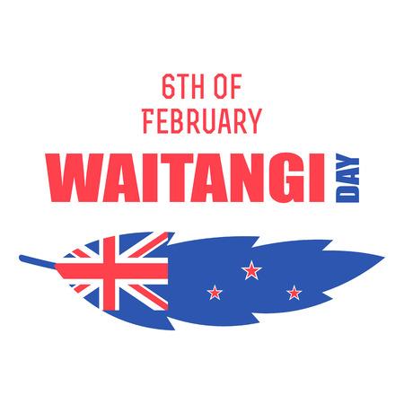 New Zealand Waitangi Day vector illustration