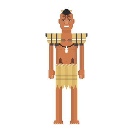 Illustration of New Zealand native inhabitant Çizim