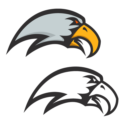 Eagle head icon isolated on white background. Vector design element.
