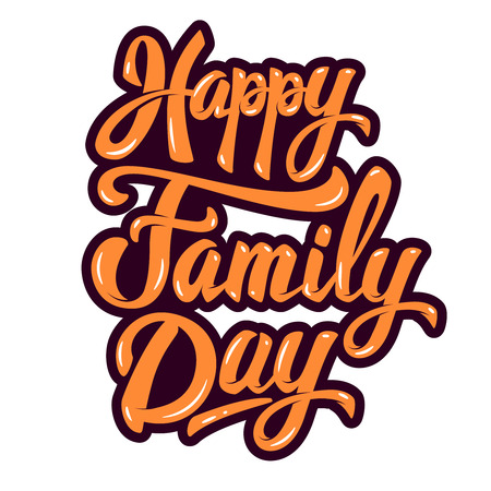 Happy Family Day. Design element for poster, greeting card. Vector illustration