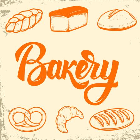 Bakery. Set of bread icons. Design elements for logo, label, emblem,sign. Vector illustration
