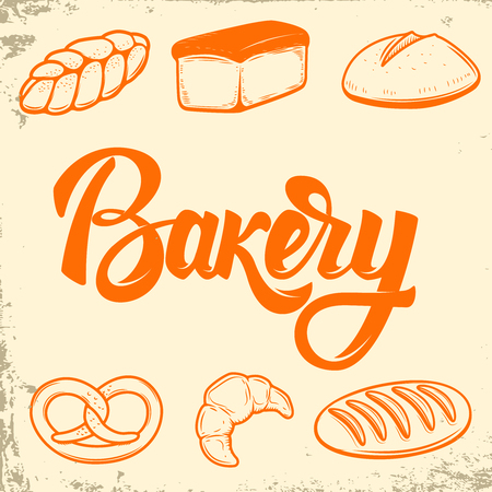 Bakery. Set of bread icons. Design elements for logo, label, emblem,sign. Vector illustration