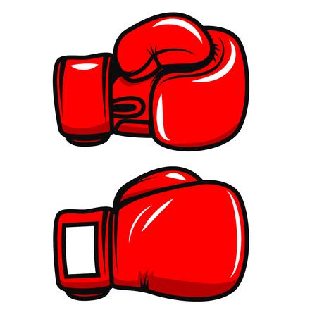 ボクシング グローブは、白い背景で隔離。ポスター、ワッペン、ラベル、バッジのデザイン要素です。ベクトル図