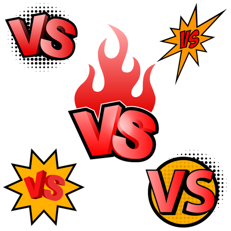 Versus letters. Symbol competition VS. Vector illustration