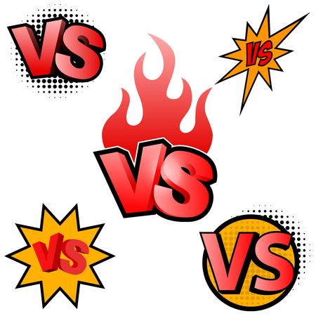 Versus letters. Symbol competition VS. Vector illustration