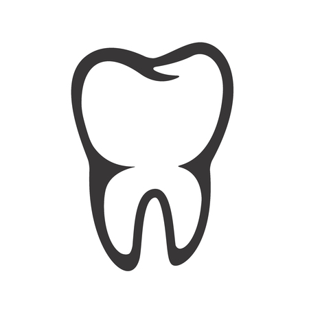 tooth icon isolated on white background. Vector illustration Çizim