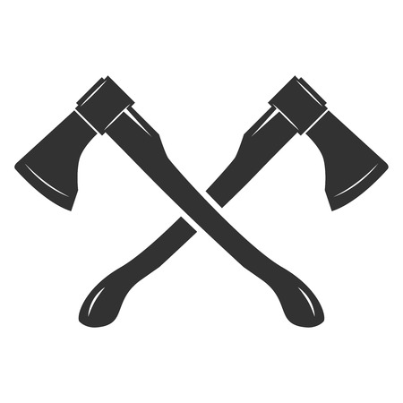 Crossed axes isolated on white background. Vector illustration Çizim