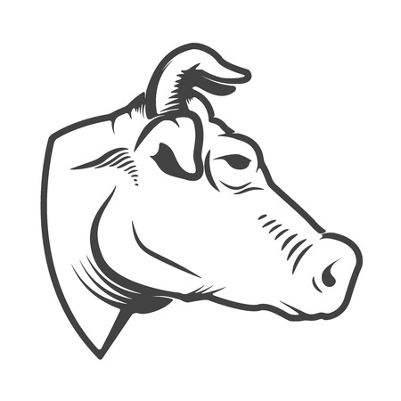 Cow head icon isolated on white background. Design elements for logo, label, emblem, sign. Vector illustration Stock Vector - 82618251