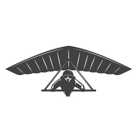 Deltaplan illustration isolated on white background. Vector design element