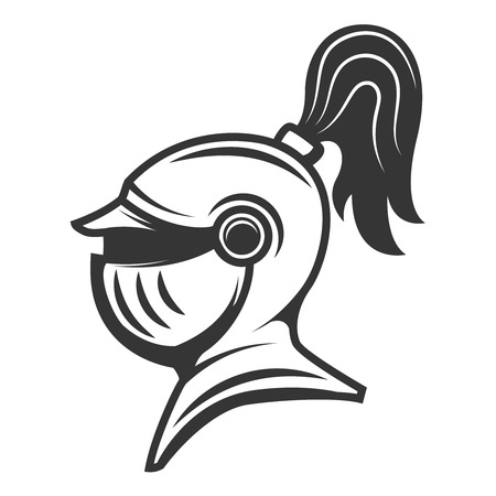 Knight helmet isolated Vector illustration