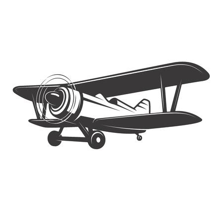 Illustration vintage de l & # 39 ; avion isolé illustration vectorielle Banque d'images - 83036228