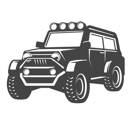 オフロード車イラストを分離ベクトル図