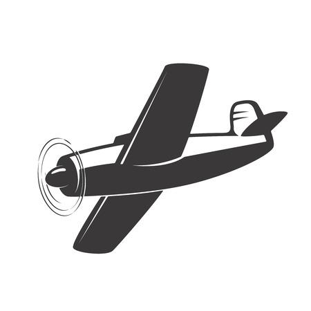 Illustration d'avion Vintage isolé sur fond blanc. Éléments de conception pour logo, étiquette, emblème, signe. Illustration vectorielle Banque d'images - 83446402