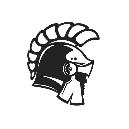 Spartan warrior illustration isolated on white background. Design elements for logo, label, emblem, sign. Vector illustration Stock Vector - 85564649