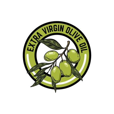 Extra virgin olive oil. Illustration