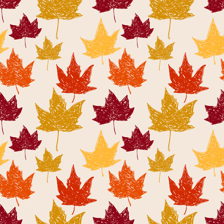 Seamless pattern with autumn leaves. Vector illustration. Illustration