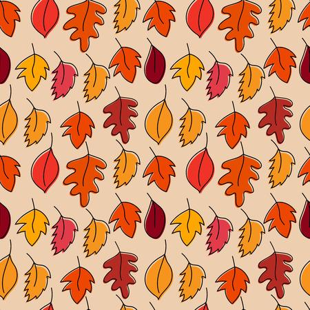 Seamless pattern with autumn leaves. Vector illustration Illustration