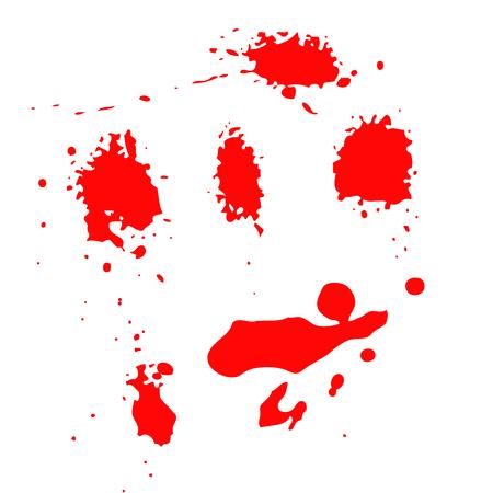 Set van bloed spatten geïsoleerd op witte achtergrond. Vector illustratie Stockfoto - 89058998