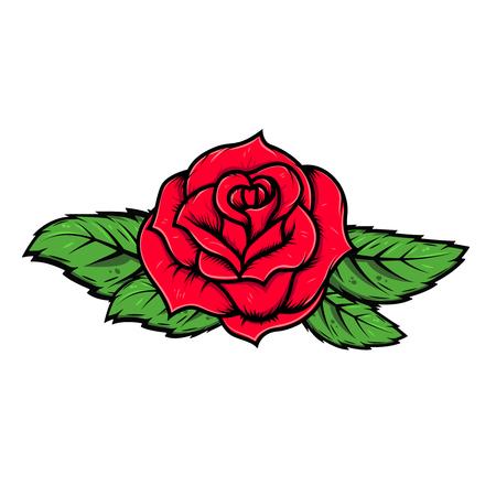 Cartoon roos illustratie geïsoleerd op een witte achtergrond. Vector ontwerpelement Stockfoto - 90112939