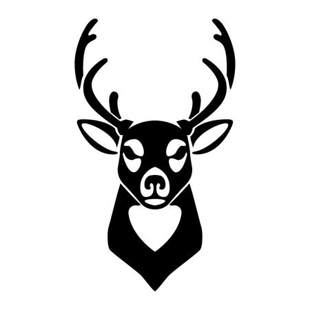 Deer icon isolated on white background. Design element for , label, emblem, sign. Vector illustration