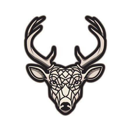 Deer head icon isolated on white background. Design element for label, emblem, sign, poster, label. Vector illustration Illustration